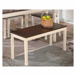 Signature Design by Ashley 'Whitesburg' Dining Room Bench (Brown and White)