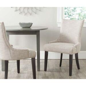 "Safavieh Dining Lester Grey Viscose Blend Dining Chairs (Set of 2) - 22"" x 24.8"" x 36.4"" - 22"" x 24.8"" x 36.4"" (MCR4709AG-SET2)"