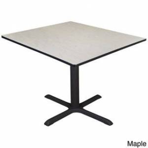 Regency Seating 48-inch Cain Square Breakroom Table (Red - Maple Finish)