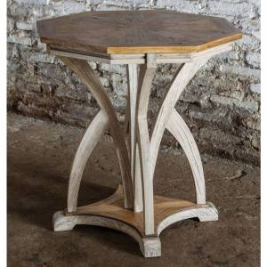 Uttermost Ranen Aged White Accent Table (Ranen, Accent Table)