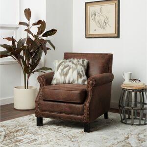 Abbyson Chloe Antique Brown Fabric Club Chair (Brown)
