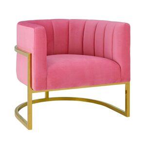 TOV Furniture Magnolia Rose Pink Velvet Chair (Rose Pink)