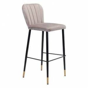 Zuo Modern Manchester Bar Chair Gray (Bar Height - 29-32 in. - Single - Gray)