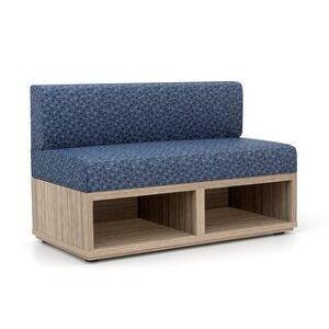 "Carson Carrington Lunne Waiting Room Reception Loveseat - 48"" x 24"" x 30"" (Lake Fabric Seat/Back)"