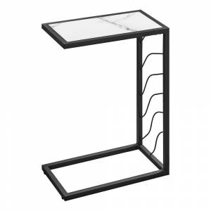 """Monarch Specialties Accent Table - 25""""H (White)"""