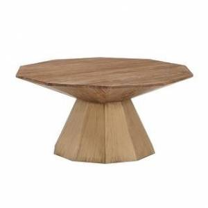 iNSPIRE Q Bach Antique Gold Reclaimed Wood Decagon Table Set by iNSPIRE Q Bold (Coffee Table Only)