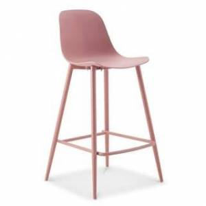 "Poly and Bark Lola 25"" Counter Stool (Blush Pink)"
