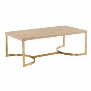 iNSPIRE Q Minato Natural Finish and Gold Table Set by iNSPIRE Q Bold (Coffee Table Only)