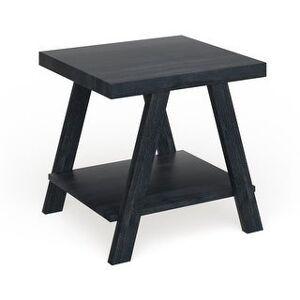 The Gray Barn Cedar Ridge Contemporary Replicated Wood Shelf End Table (Black)