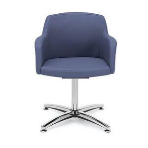 "Carson Carrington Valanda Swivel Low Back Guest Chair - 24"" x 24"" x 31"" - 24"" x 24"" x 31"" (Ocean Poly Seat)"