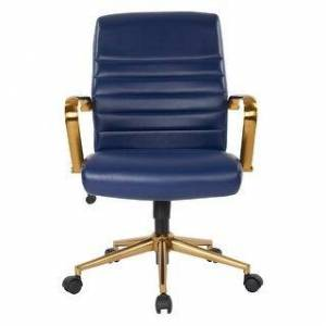 OSP Home Furnishings Baldwin Mid-Back Faux Leather Chair (Navy)