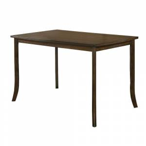 Overstock Rectangular Wooden Top Counter Height Table with Saber Legs, Brown (Brown - Wood)