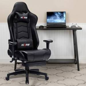 Overstock Ergonomic Gaming Chair With Muti-function (Black)