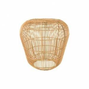 """Overstock 18.5""""H  Handwoven Rattan Accent Table with Metal Frame (Natural)"""