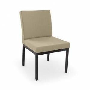 Amisco Perry Dining Chairs (Set of 2) (Beige Fabric / Dark Brown Metal)