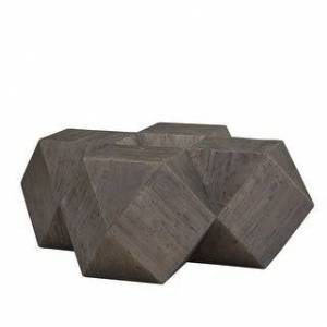 iNSPIRE Q Dunn Reclaimed Wood Geometric Table Set by iNSPIRE Q Modern (Coffee Table - Brown)
