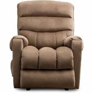 Overstock Power Lift Recliner Chair for Elderly- Heavy Duty and Safety Motion Fabric Reclining (Light Browm)