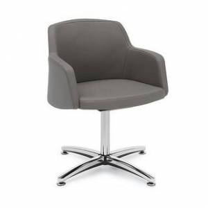 "Carson Carrington Valanda Swivel Low Back Guest Chair - 24"" x 24"" x 31"" - 24"" x 24"" x 31"" (Stratus Poly Seat)"