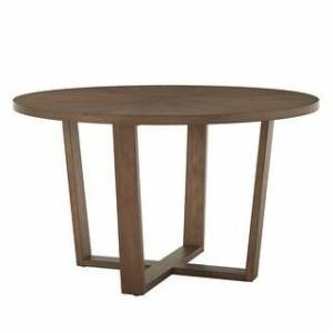 iNSPIRE Q Sheeba Round Angled Walnut Dining Table by iNSPIRE Q Modern (Walnut Finish Top)
