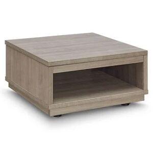 "Carson Carrington Vala Low Square Modular Table - 24"" x 24"" x 13"" (Modular - 24"" x 24"" x 13"" - Walnut Finish - Laminate - Stone Walnut - Modern &"