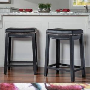 Copper Grove Willamette Backless Counter Stool (Single - Black - Counter Height - 23-28 in.)