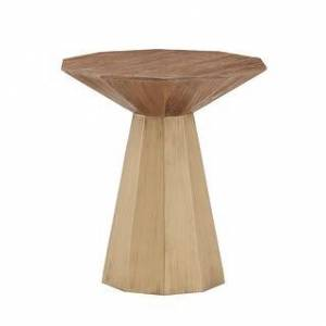 iNSPIRE Q Bach Antique Gold Reclaimed Wood Decagon End Table by iNSPIRE Q Bold - End Table (Gold)