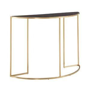 iNSPIRE Q Subira Antique Gold Finish Metal Half Round Sofa Table by iNSPIRE Q Bold - Sofa Table (Gold)
