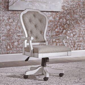 Liberty Furniture Magnolia Manor Antique White Jr Executive Desk Chair (Antique White)