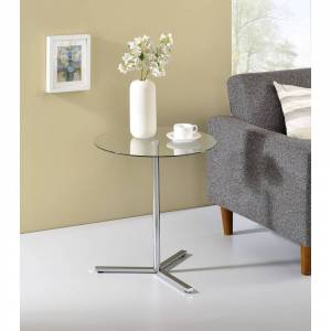 Overstock Side Table (Glass)