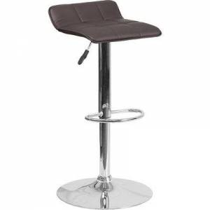 "iHome Studio Estella ""Luna"" Brown Vinyl Adj Bar/Counter Stool"