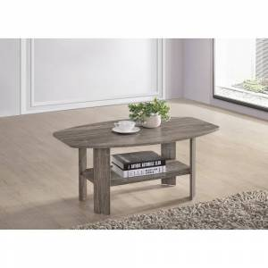 Progressive Chip Cocktail Table (3 and 4 Legs - Distressed - Microfiber - Assembly Required - Shabby Chic/Farmhouse - Table - No - Specialty - MDF - Distressed