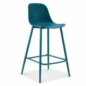 """Poly and Bark Lola 25"""" Counter Stool (Ocean Teal)"""