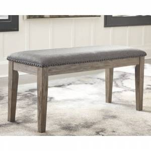Signature Design by Ashley Aldwin Upholstered Antique Grey Bench - N/A