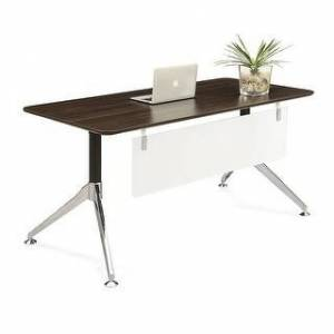 "Copper Grove Cadushi Modern Computer Desk (60 x 30) (Commercial - 60"" x 30"" x 30"" - Walnut Finish - Laminate - Assembly Required - Dark Walnut -"