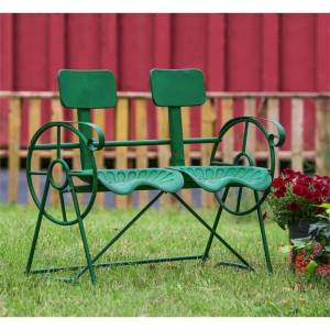 Evergreen 40-inch Antique Tractor Metal Bench (Green)