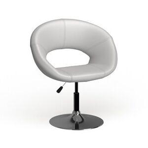 Carson Carrington Godoya Bonded Leather/ Chrome Adjustable Height Swivel Chair (White)