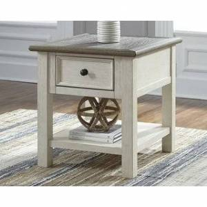 Signature Design by Ashley Bolanburg Antique White/Brown Casual End Table (Antique White - Veneer)