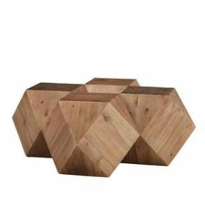 iNSPIRE Q Dunn Reclaimed Wood Geometric Table Set by iNSPIRE Q Modern (Coffee Table - Natural)