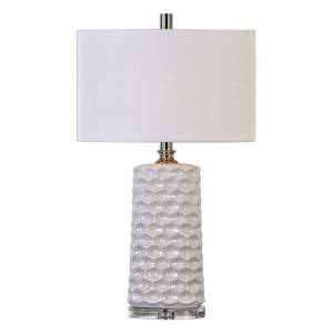 Uttermost Sesia White Honeycomb Table Lamp (Lamps)