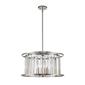Avery Home Lighting Monarch 6-light Pendant in Brushed Nickel (Lights)