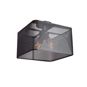 Access Epic LED 16-inch Black Square Semi Flush (Black)