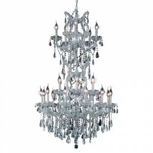 Overstock Fleur Illumination 25 light Chrome Chandelier (Chrome/royal cut crystals)