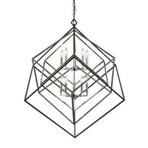 Avery Home Lighting Euclid 10-light Chandelier (Black/Chrome)