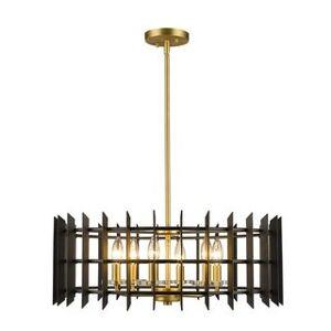 Avery Home Lighting Haake 6-light Pendant (Black/Gold - Satin/Matte - Brass)