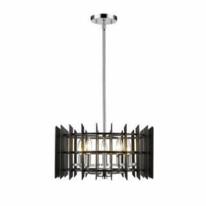 Avery Home Lighting Haake 5-light Pendant (Black/Chrome - Matte - Chrome)