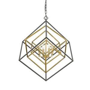 Avery Home Lighting Euclid 4-light Chandelier (Bronze/Gold - Brass/Bronze)