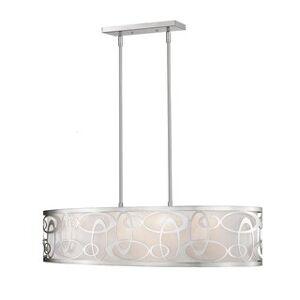 Avery Home Lighting Opal 4-light Pendant (Silver/White - Nickel)