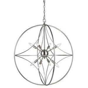 Avery Home Lighting Cortez 8-light Pendant (Silver - Nickel)