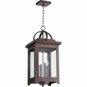 QUORUM Riverdale Oiled Bronze 4-light Outdoor Pendant Lighting