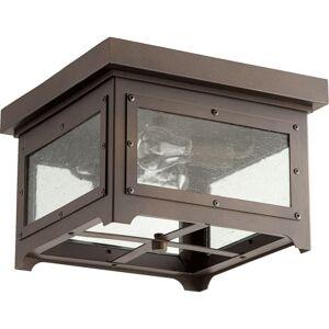 QUORUM Riverdale Oiled Bronze 2-light Outdoor Ceiling Mount
